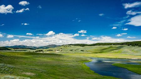 Hayden Valley, Yellowstone National Park, Wyoming. Stock Photo