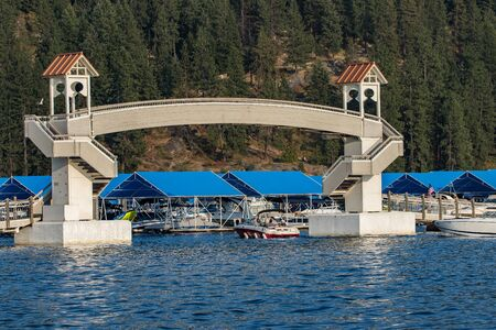 boating: Boating on Lake Coeur dAlene, Idaho.