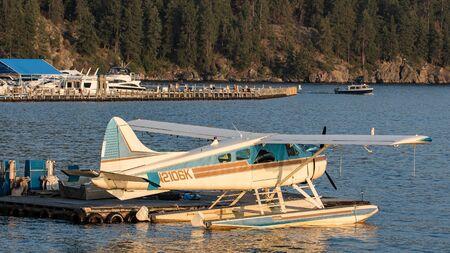 idaho: Seaplane on Lake Coeur dAlene, Idaho