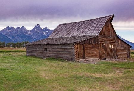 oxbow: Barn On Mormon Row, Grand Tetons, Wyoming