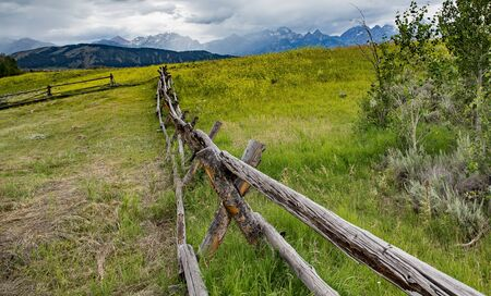 wyoming: Old Farm, Grand Tetons National Park, Wyoming.
