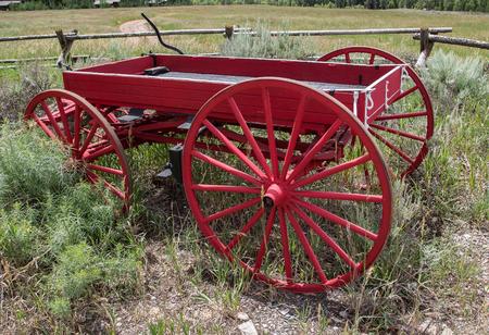 jackson: Red Wagon, Jackson Hole, Wyoming