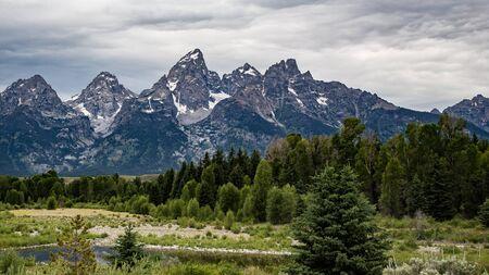 Parque Nacional Gran Tetón, Wyoming. Foto de archivo - 49213807
