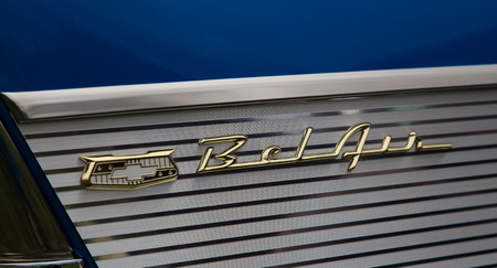 bel air: Bel Air Logo, Kool April Nights Auto Show, Redding, California.