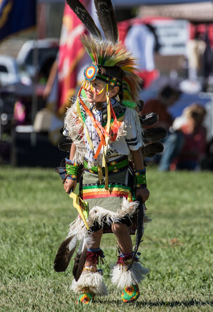 American Indian: Young Native American Dancer, Stillwater Powwow, Anderson, California. Editorial