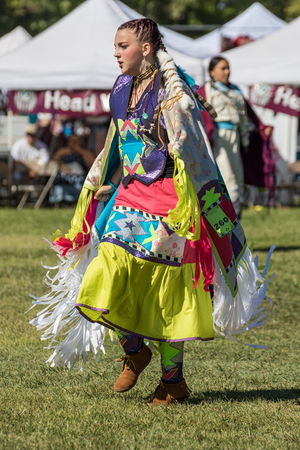 powwow: Native American Dancer, Stillwater Powwow, Anderson, California.