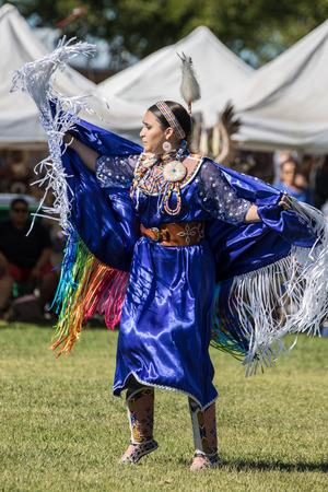 powwow: Native American Dancer, Stillwater Powwow, Anderson, California.