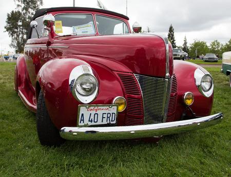 Classic 40s Ford, Kool April Nights Auto Show, Redding, California.