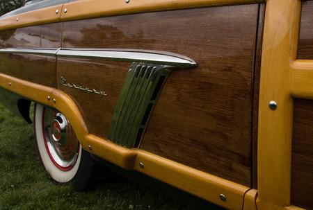 station wagon: Mercury 1952 Custom Series Woodie Station Wagon, Redding, California