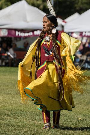 pima: Native American Dancers, Stillwater Powwow, Anderson, California.