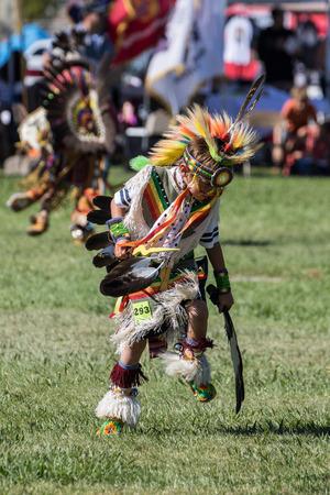 powwow: Native American Dancers, Stillwater Powwow, Anderson, California.