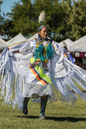 powwow: Native American Dancers, Stillwater Powwow, Anderson, California.