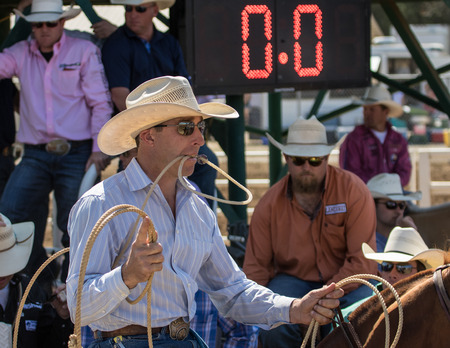 red bluff: Ready For The Calf, Red Bluff Round Up, California
