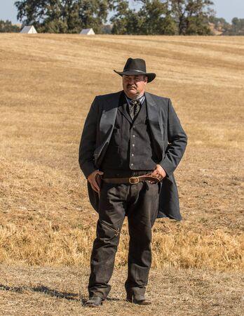 reenactment: Civil War era Lawman, Civil War Reenactment, Anderson, California