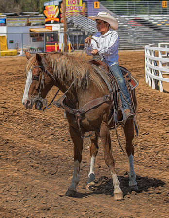 bluff: Young Cowboy, Red Bluff Rodeo, California. Editorial