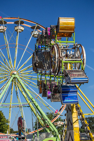 local festivals: Exciting Carnival Ride at the County Fair Editorial