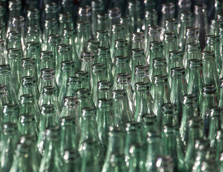 coke bottle: Bottle and Ring  Toss Game on the Midway Stock Photo