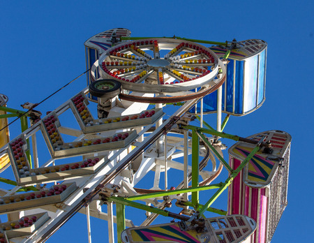 Exciting Carnival Ride at the County Fair Reklamní fotografie