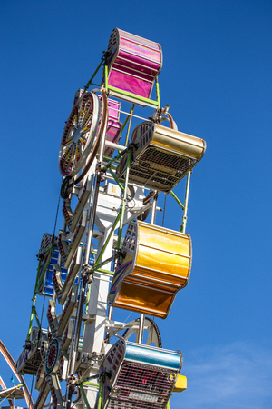 exciting: Exciting Carnival Ride at the County Fair Stock Photo