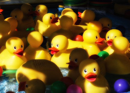 Duck Game at the Midway Banco de Imagens