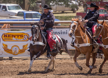 cottonwood: Redding Rodeo Drill Team, Cottonwood Rodeo, Cottonwood, California.