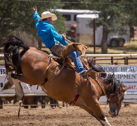 Cottonwood Rodeo, Cottonwood, California. Editorial