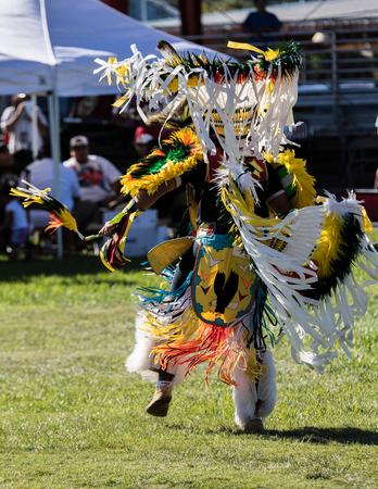joyous festivals: Native American Dancer at Stillwater Pow Wow, Anderson, California.
