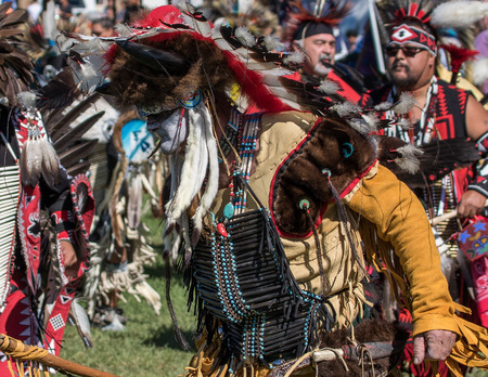 joyous festivals: Native American Dancer at Stillwater Pow Wow, Anderson, California.
