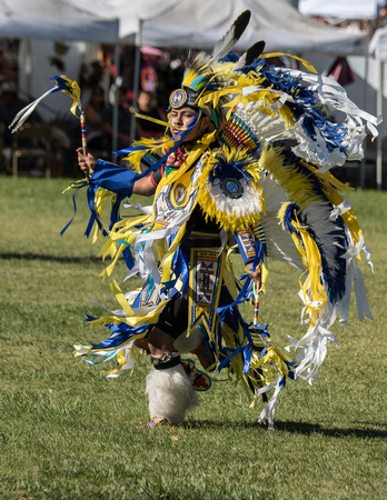 Native American Dancer at Stillwater Pow Wow, Anderson, California.
