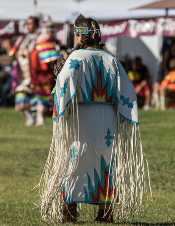 pow wow: Native American Dancer at Stillwater Pow Wow, Anderson, California.