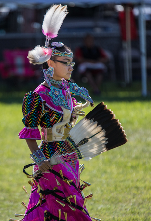 pima: Native American Dancer at Stillwater Pow Wow, Anderson, California.