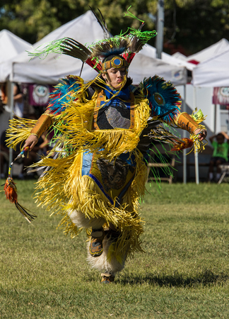 social history: Native American Dancer at Stillwater Pow Wow.