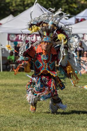 pow wow: Native American Dancer at Stillwater Pow Wow.