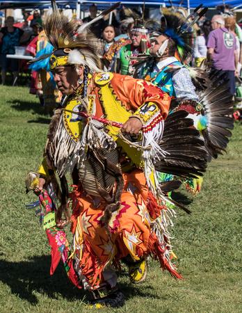 joyous festivals: Native American Dancer at Stillwater Pow Wow.