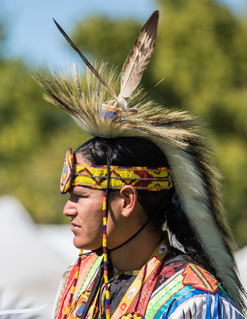 pow: Native American Dancer at Stillwater Pow Wow.