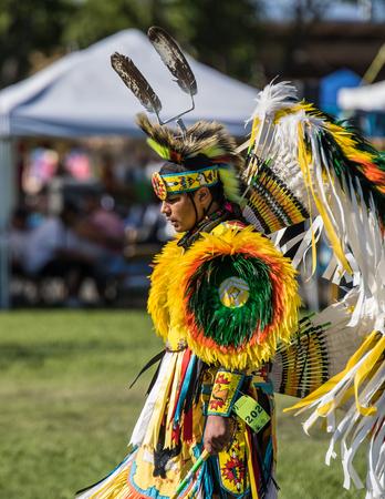 pow: Native American Dancer at Stillwater Pow Wow.