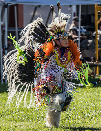 joyous festivals: Native American Dancer at Stillwater Pow Wow.