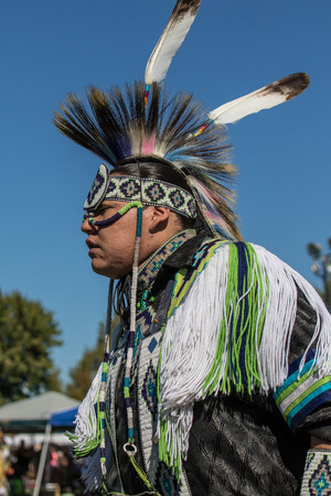 pima: Native American Dancer at Stillwater Pow Wow.