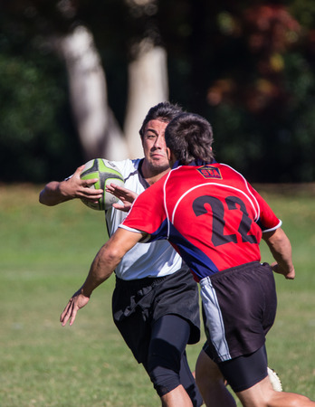 highlander: A Shasta Highlander on the loose against Sacramento Blackhawks at a rugby tournament in Redding, California, Nov. 8, 2014. Editorial