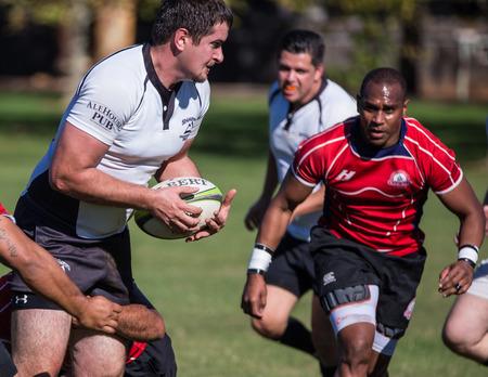 highlander: A Shasta Highlander on the loose against Sacramento Blackhawks at a rugby tournament in Redding, California, Nov. 8, 2014. Editorial
