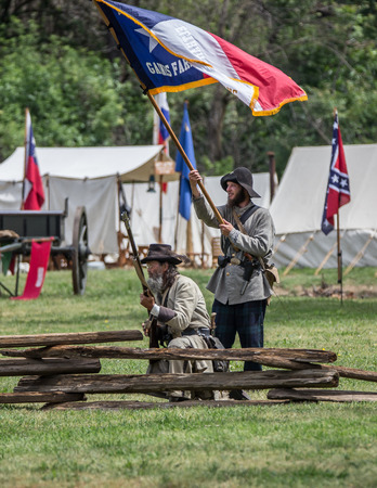 red bluff: Confederate troops at the Dog Island Civil War reenactment, Red Bluff, California