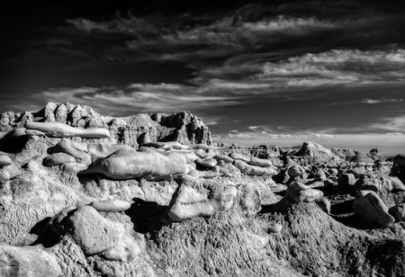 goblins: Goblin Valley State Park, Utah. Oddly shaped rock formations nicknamed goblins because of their spooky appearance .