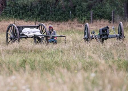 reenactment: Civil War Era Cannon, Civil War Reenactment in Anderson, Califonia. Editorial