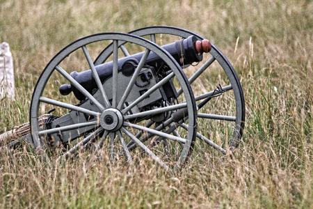civil war: Civil War Era Cannon, Civil War Reenactment in Anderson, California. Editorial