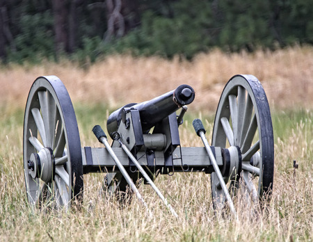 period costume: Civil War Era Cannon, Civil War Reenactment Editorial