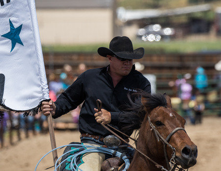 arena rodeo: Rodeo Cowboy in Cottonwood, California. Editorial