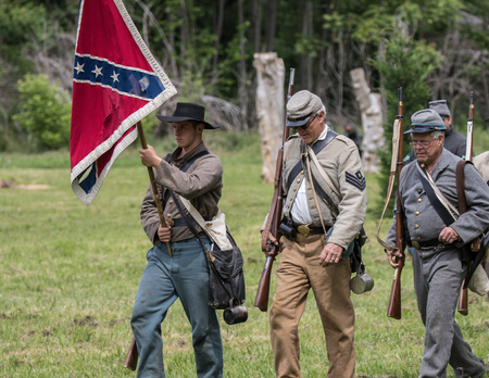 period costume: Civil War Union scout at the Dog Island reenactment in Red Bluff, California. Editorial