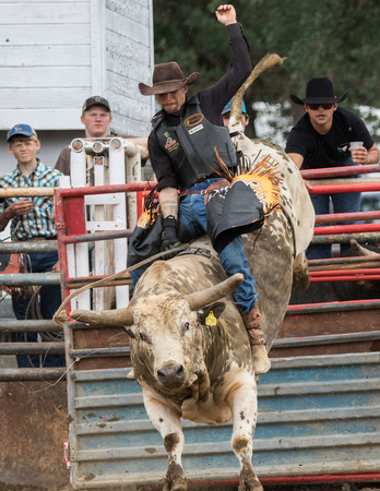Rodeo action at the Cottonwood Rodeo in Cottonwood, California on May 8th, 2016.
