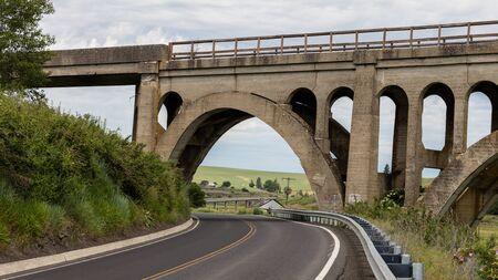 palouse: Railroad bridge in the Palouse area of eastern Washington.