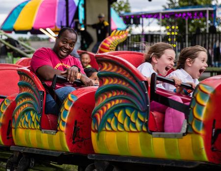 Dragon ride at the Shasta County Fair in Anderson, California. Editorial